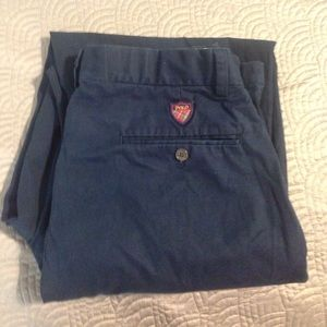 Polo golf pleated front navy pants 32x30